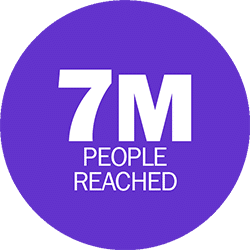 7 million people reached